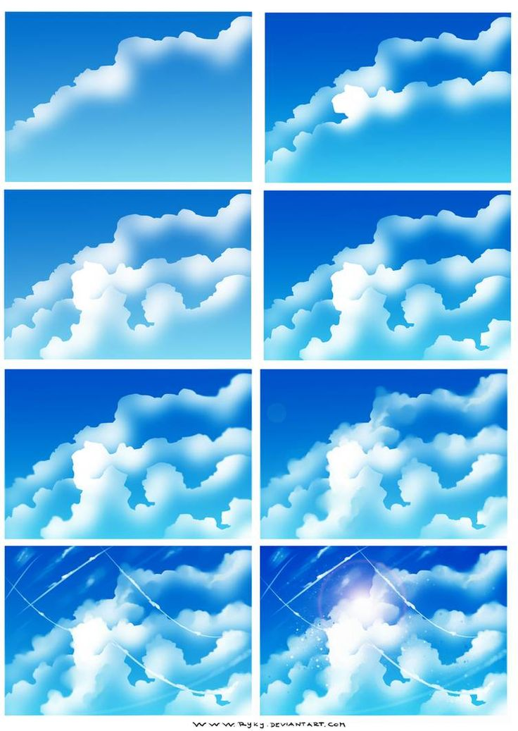 How i draw clouds by ryky on DeviantArt