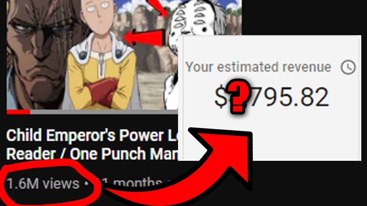 How Much Money does an Anime Video with Over 1 MILLION ...