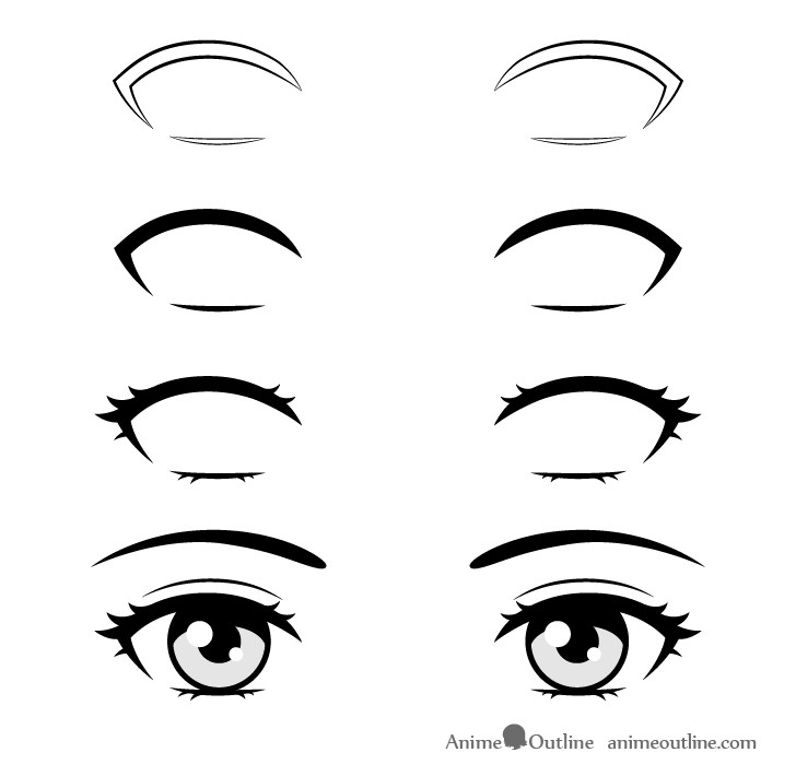 How to Draw Anime Eyelashes Step by Step