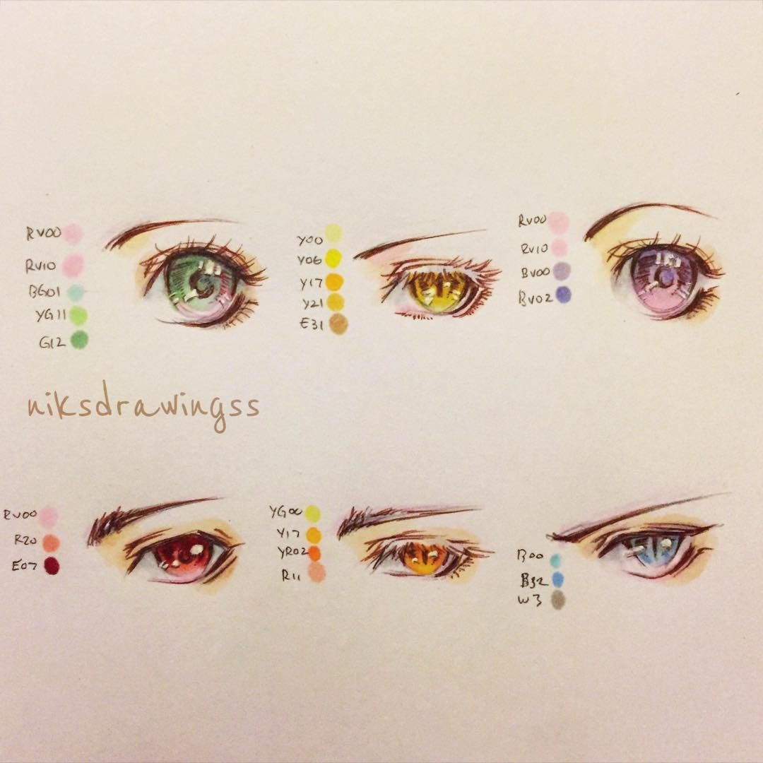 How To Draw Anime Eyes With Copic Markers