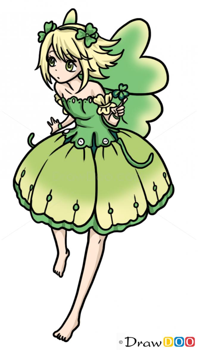 How to Draw Anime Fairie 2, Fairies