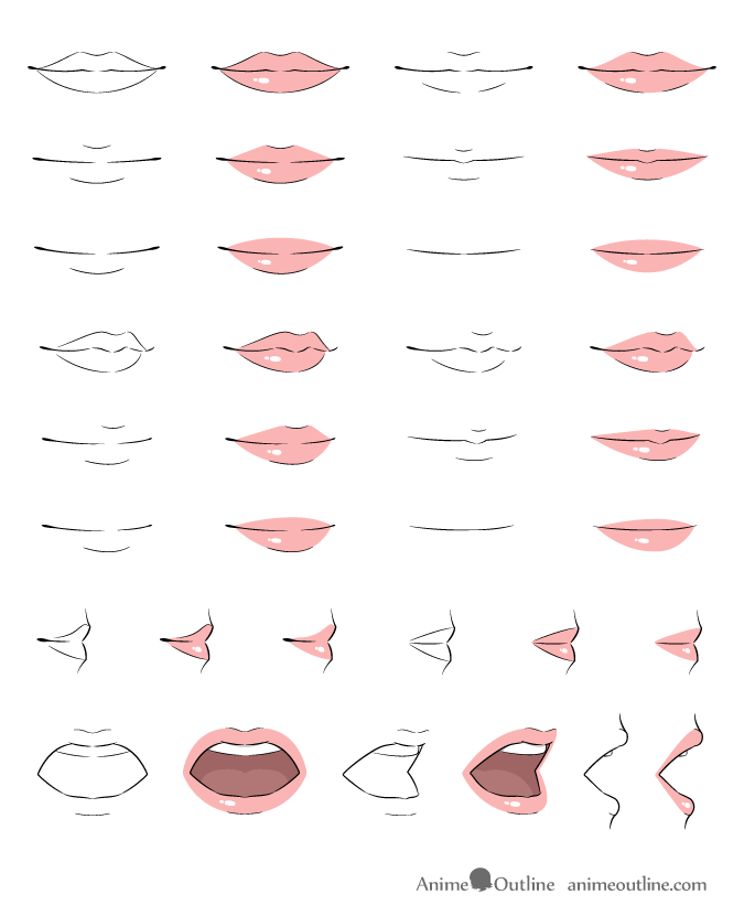 How to Draw Anime Lips Tutorial