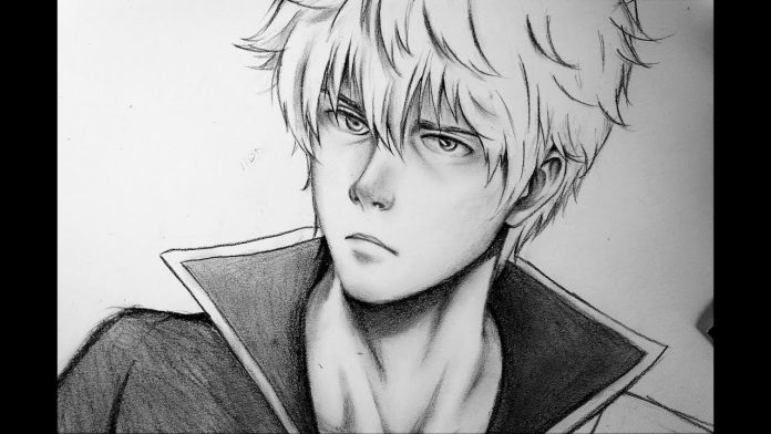 how to draw realistic anime character sakata gintoki