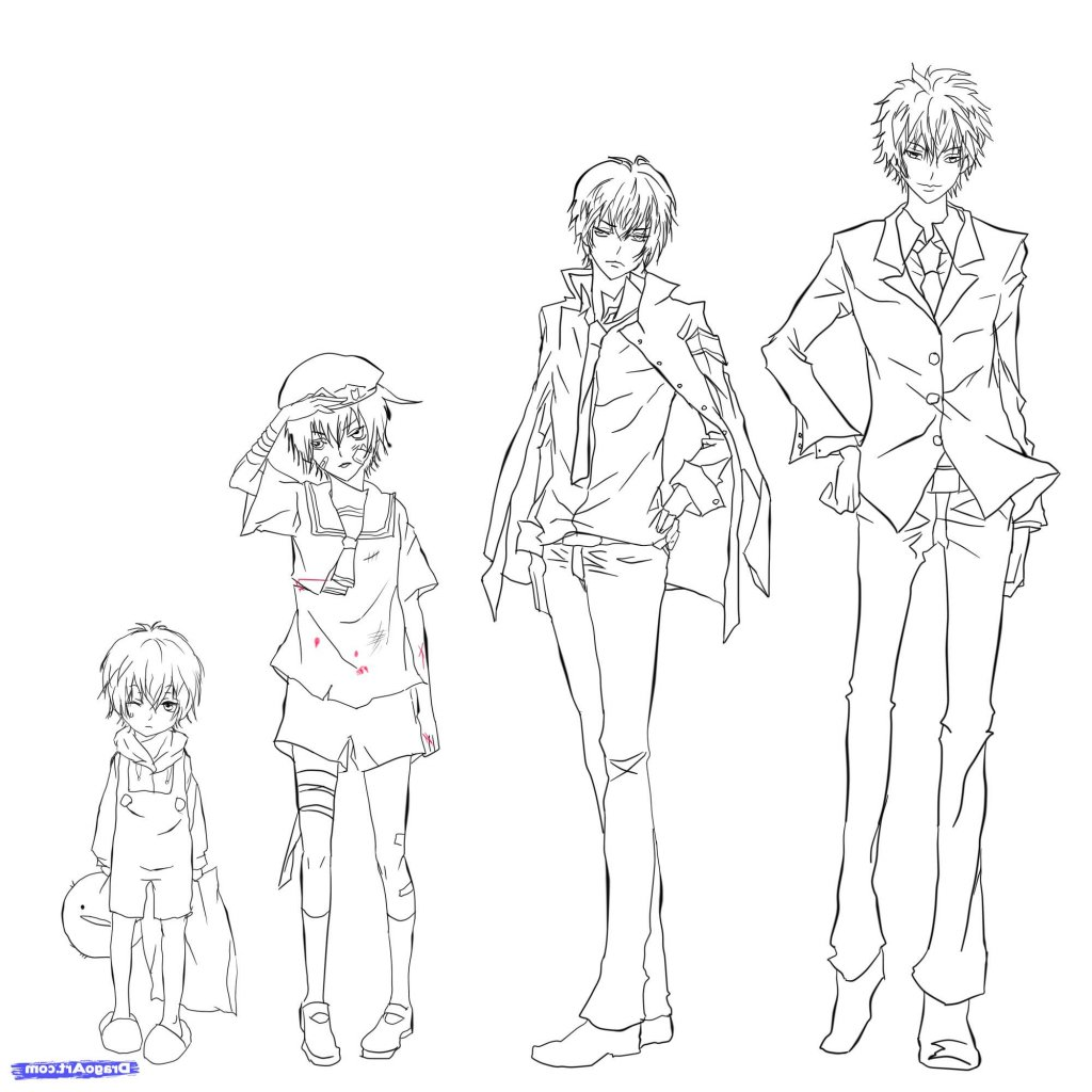 Male Manga Drawing at GetDrawings