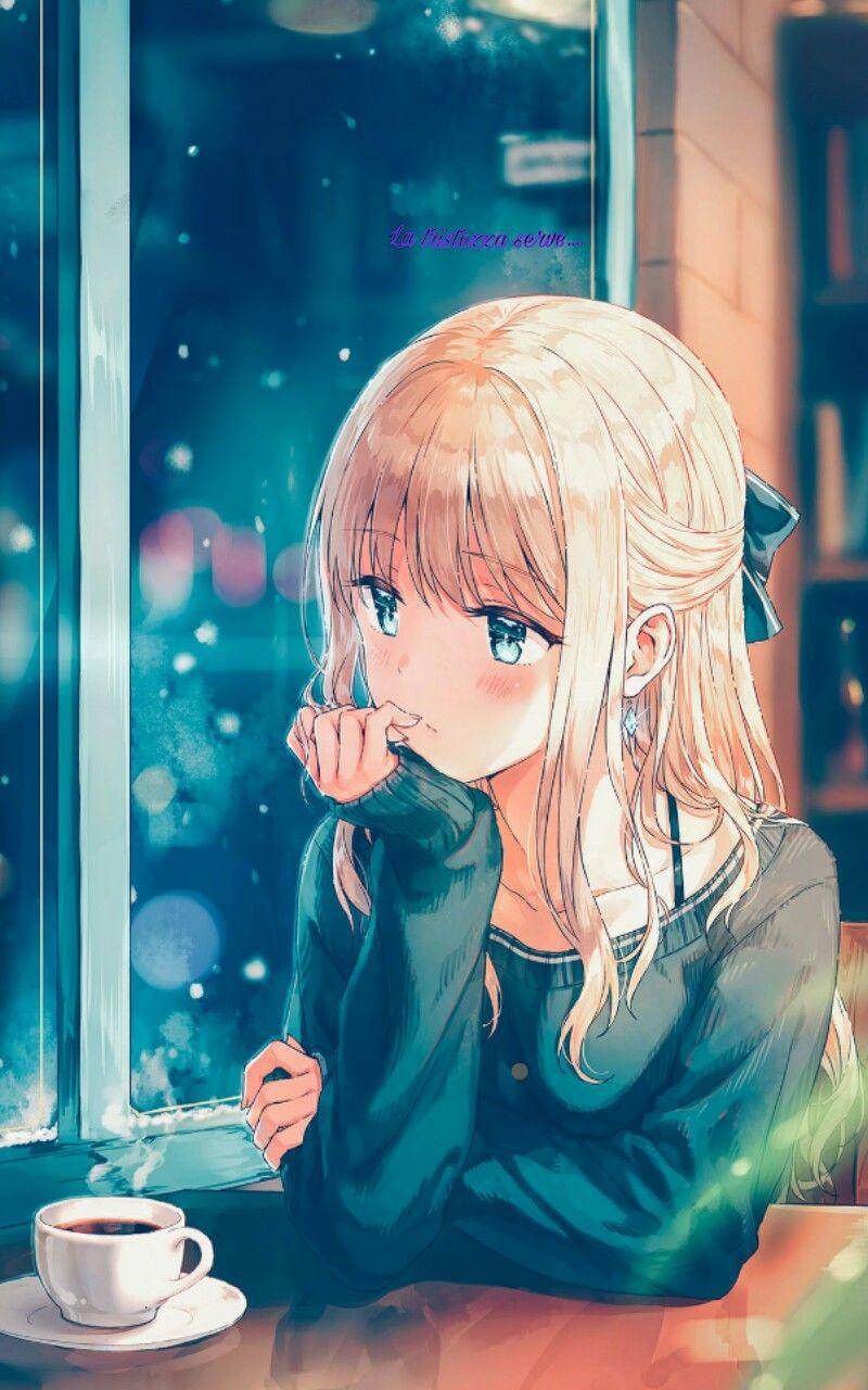 rain sad anime