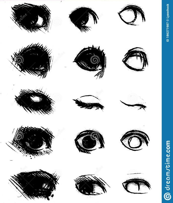 tutorial of drawing human eye eye in anime style female