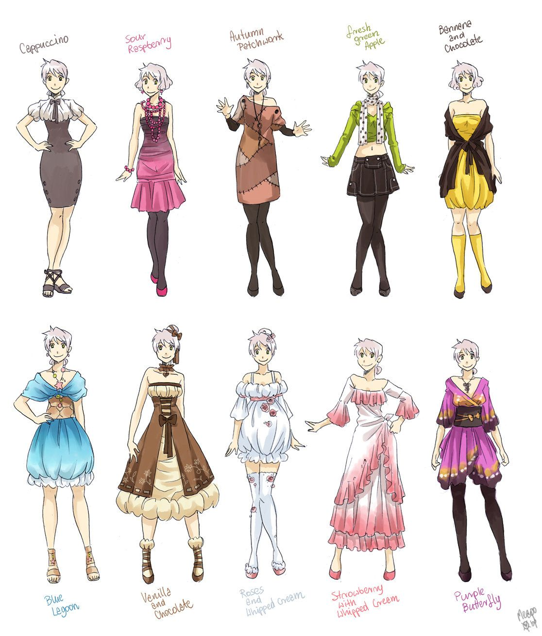 Various female clothes