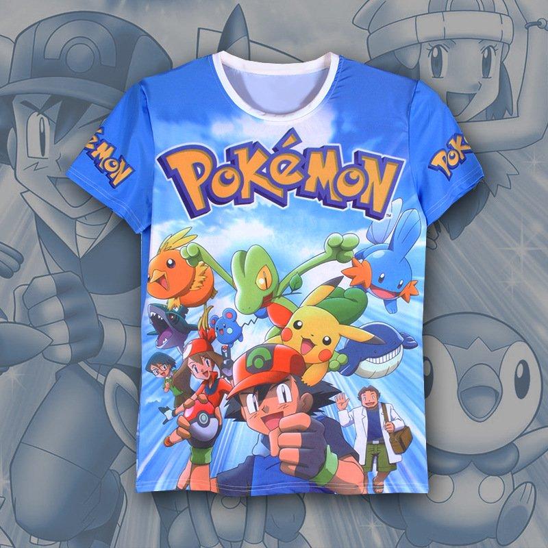 wholesale pokemon anime 3d printed tshirt 2xs to 5xl ...